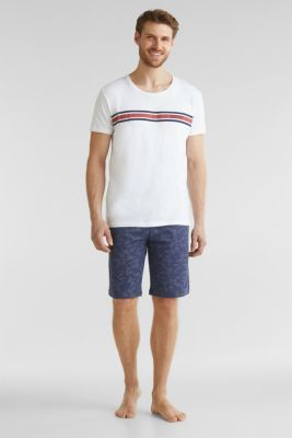 Printed jersey pyjamas, 100% cotton, NAVY 2, detail