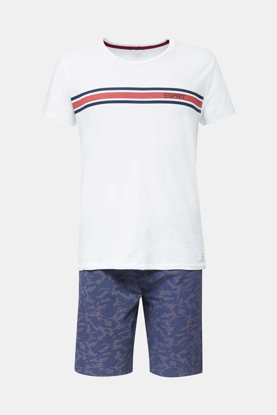 Printed jersey pyjamas, 100% cotton, NAVY 2, detail image number 3