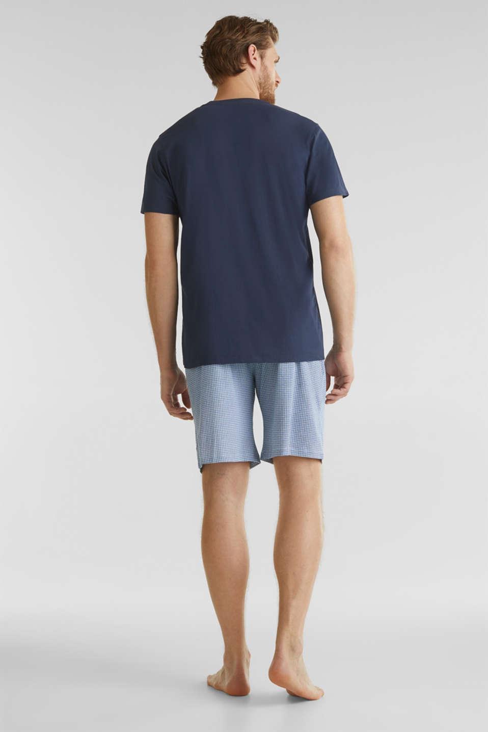 Jersey pyjamas with checks, 100% cotton, NAVY 2, detail image number 1