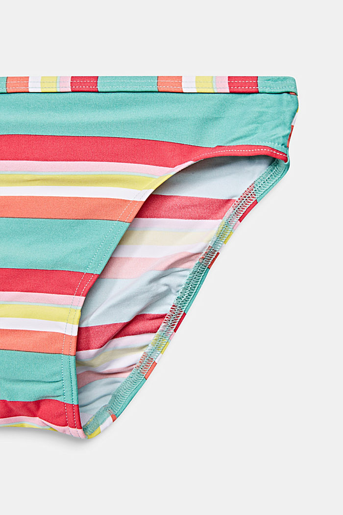 Crop top bikini with colourful stripes, DUSTY GREEN, detail image number 3