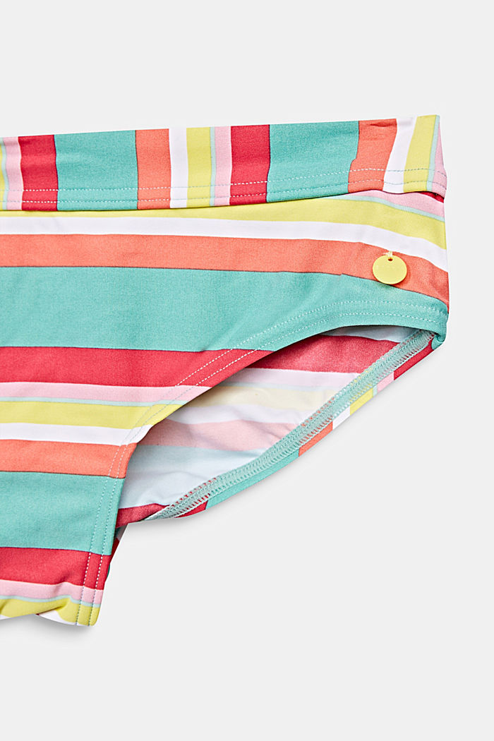 Padded halterneck bikini with stripes, DUSTY GREEN, detail image number 2