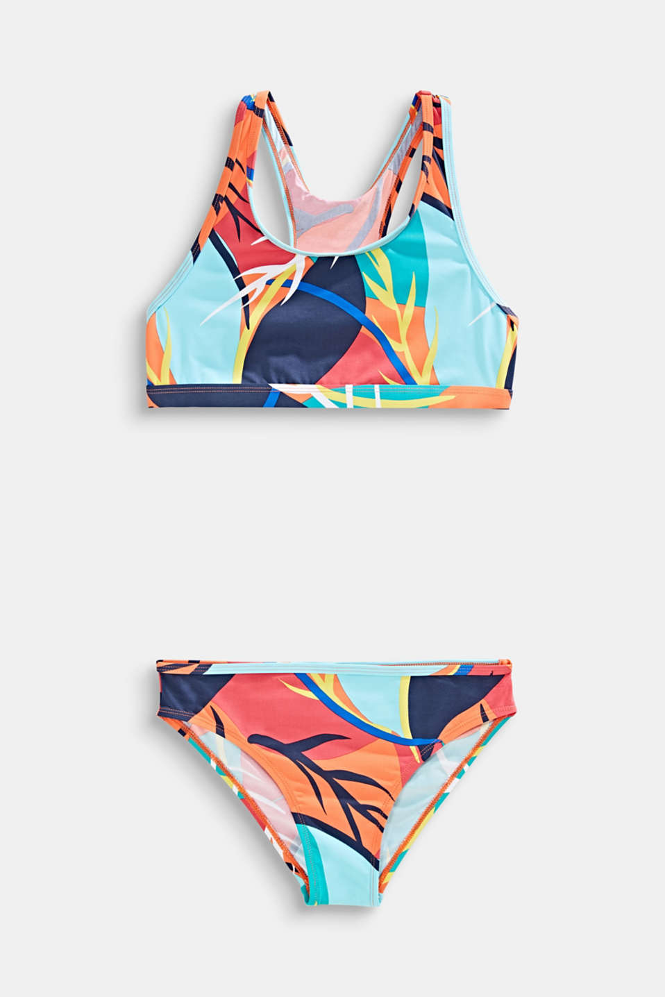 Esprit - Crop top bikini with a colourful print