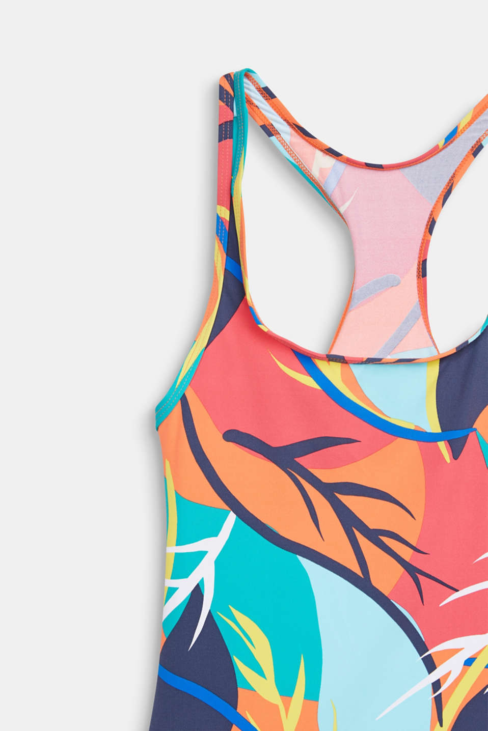 Colourfully printed swimsuit, RED ORANGE, detail image number 2
