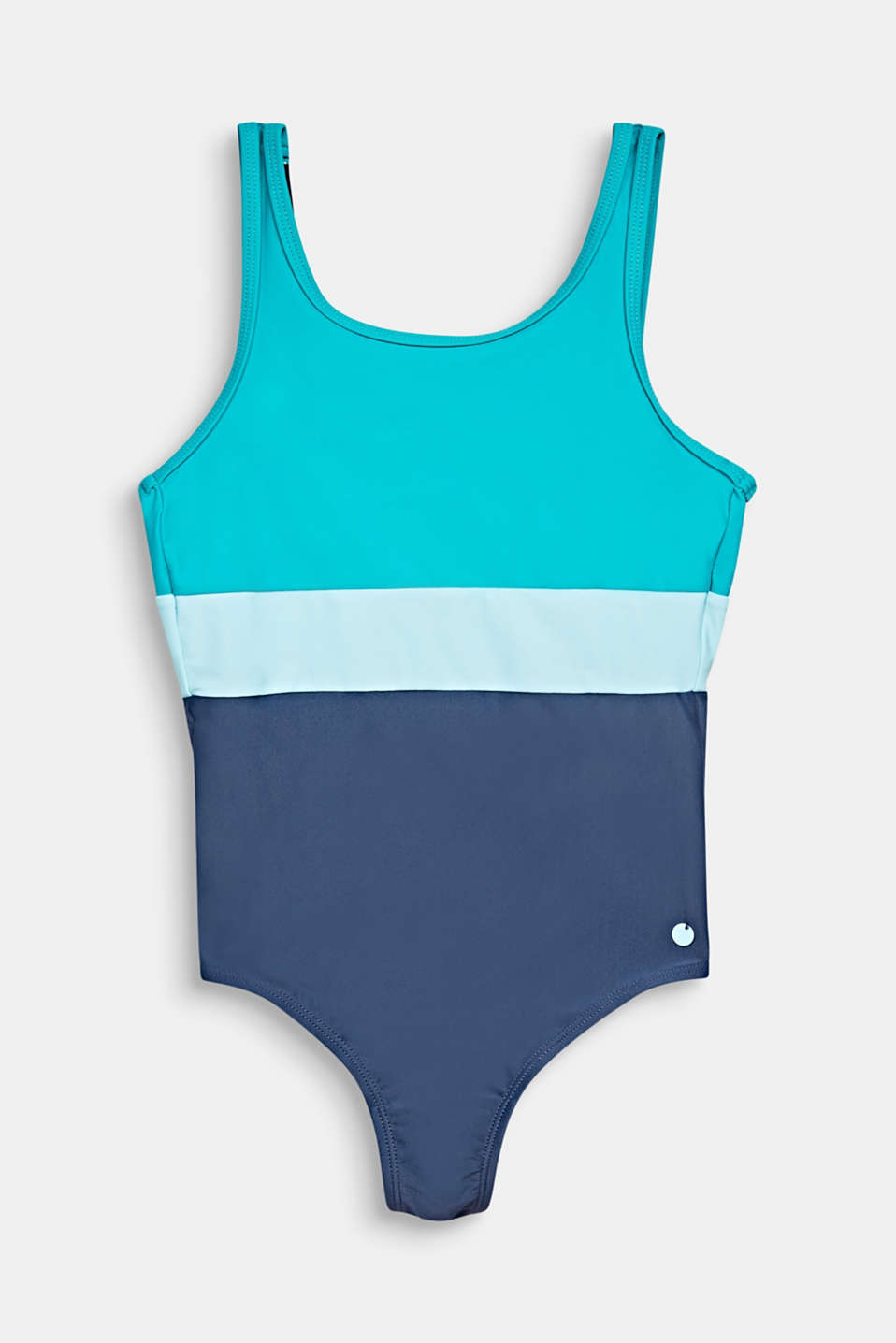 Colour block swimsuit, TURQUOISE, detail image number 0
