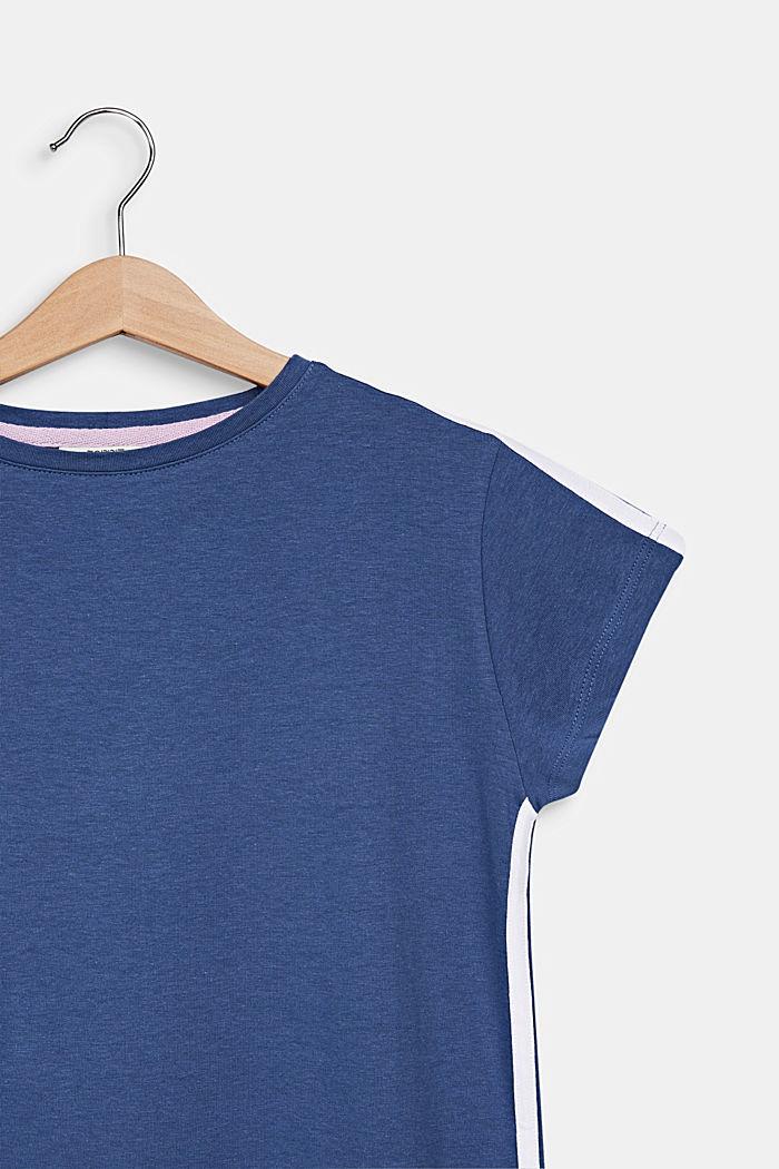 Jersey-Nachthemd aus 100% Baumwolle, NAVY, detail image number 2