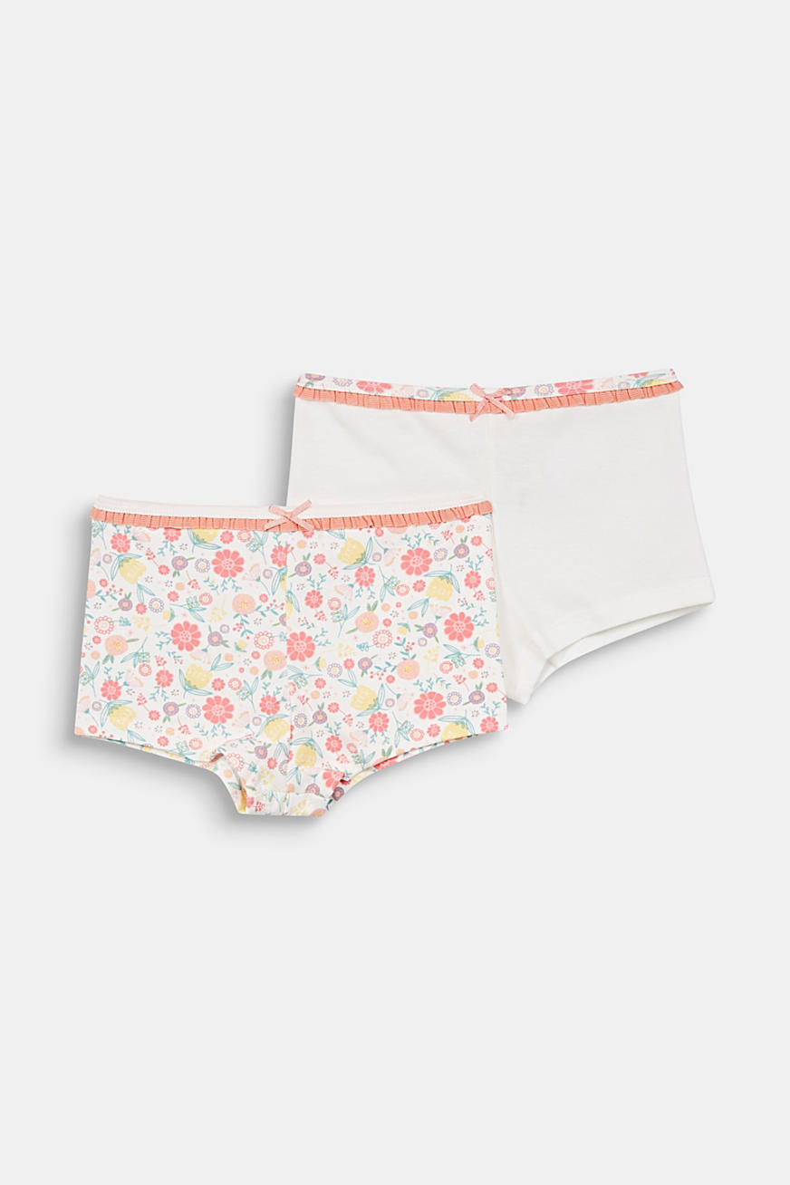 Set van 2 shorts, effen of met print