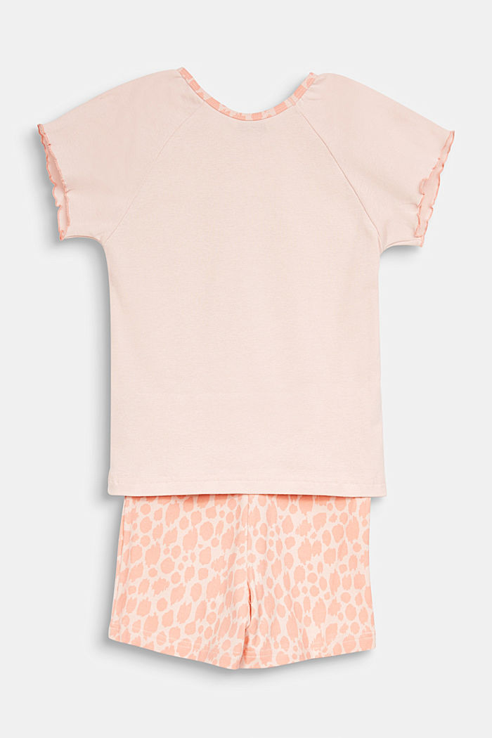 Jersey pyjamas with a giraffe print