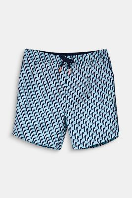Quick-drying swim trunks, LIGHT AQUA GREEN, detail