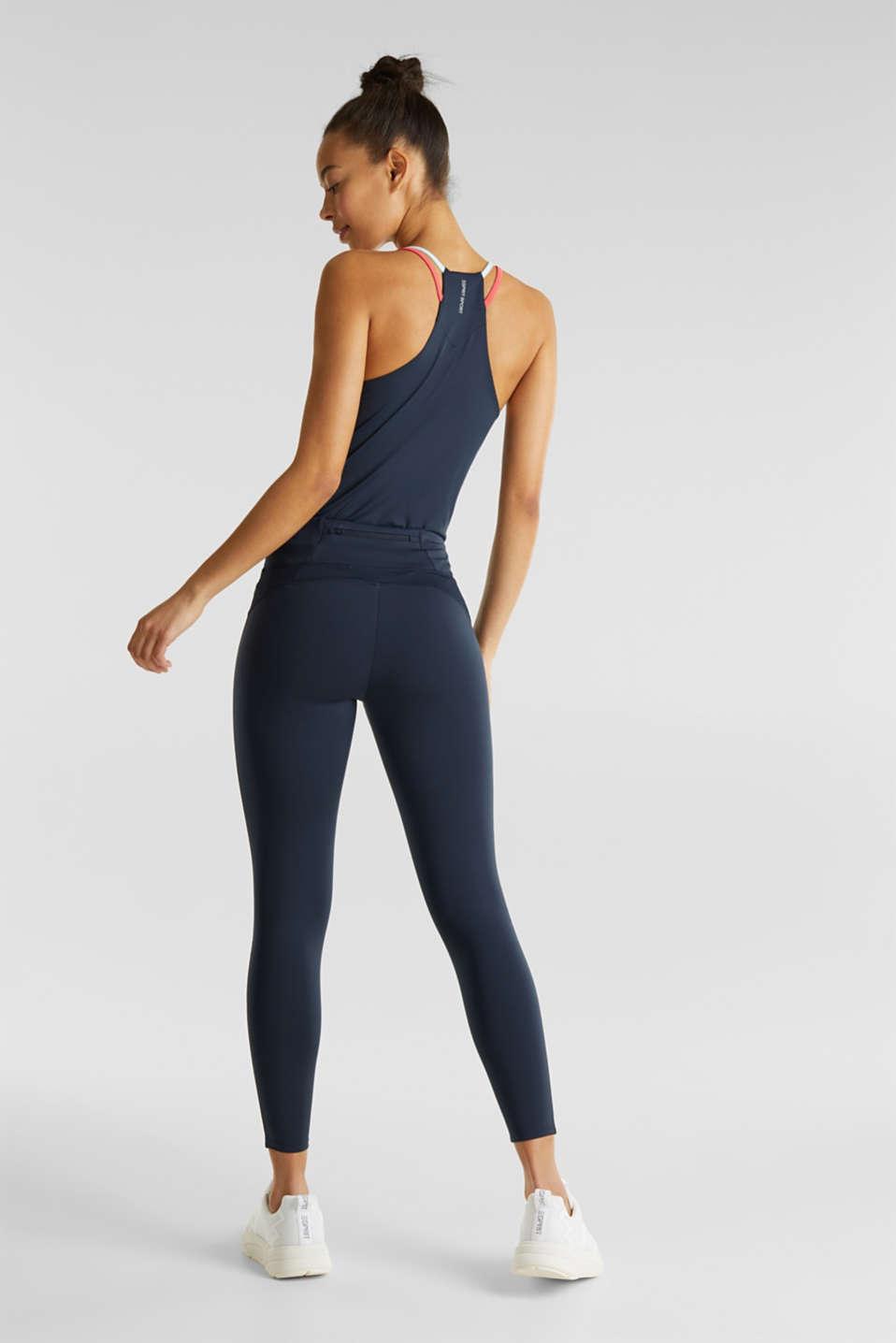 Compression leggings, E-DRY, NAVY 2, detail image number 2