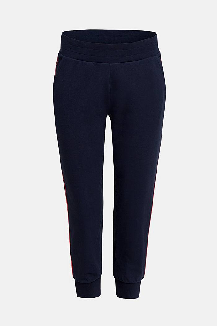 Tracksuit bottoms with contrast piping, NAVY, detail image number 4