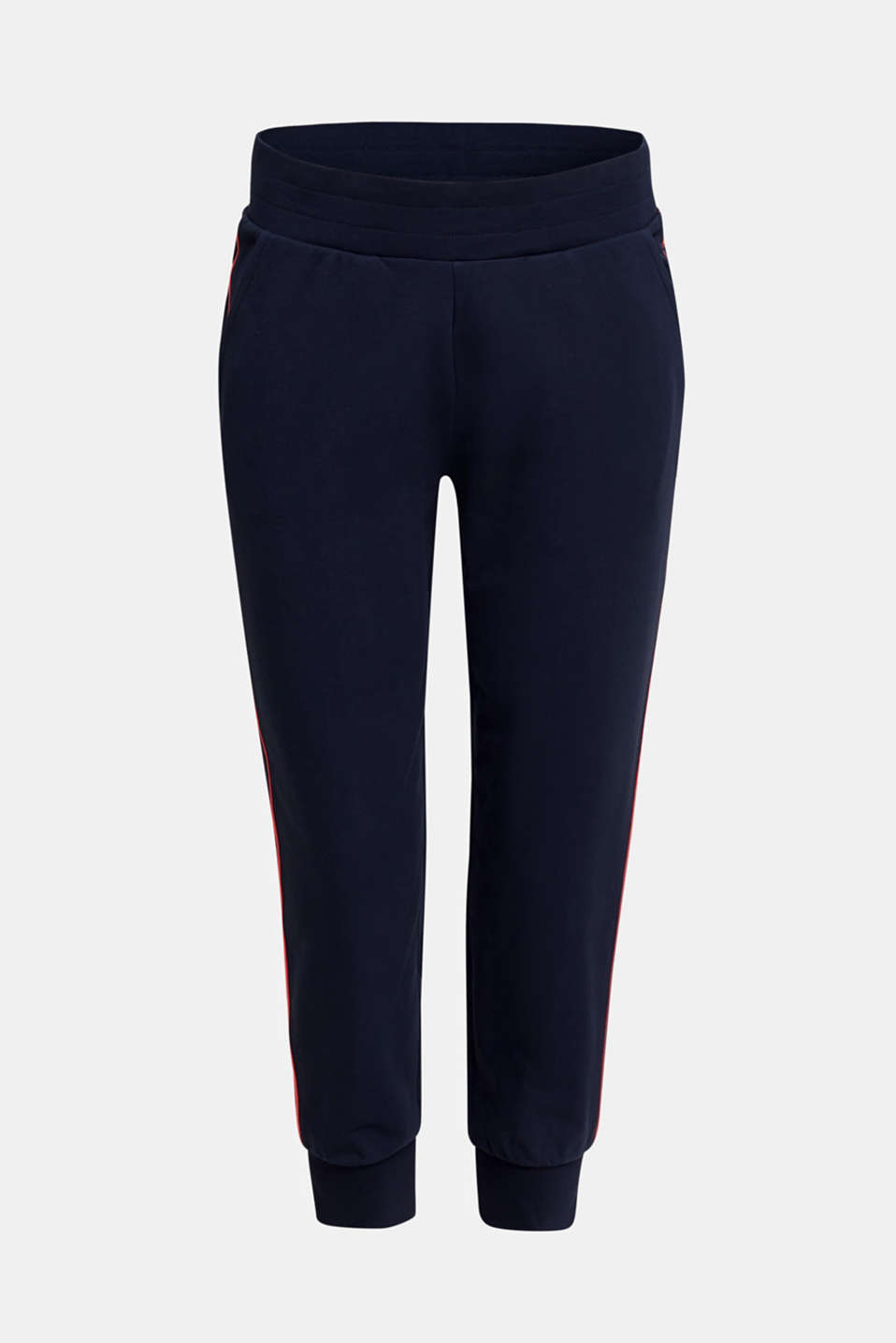 Tracksuit bottoms with contrast piping, NAVY 2, detail image number 4