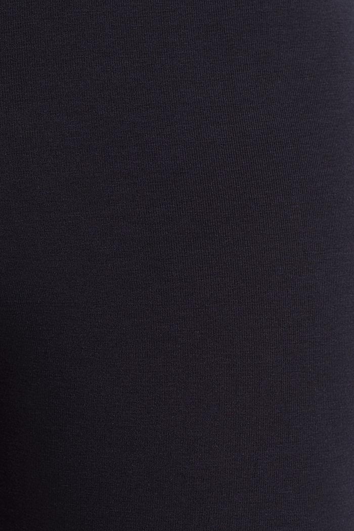 Raidalliset leggingsit, joissa luomupuuvillaa, NAVY, detail image number 4