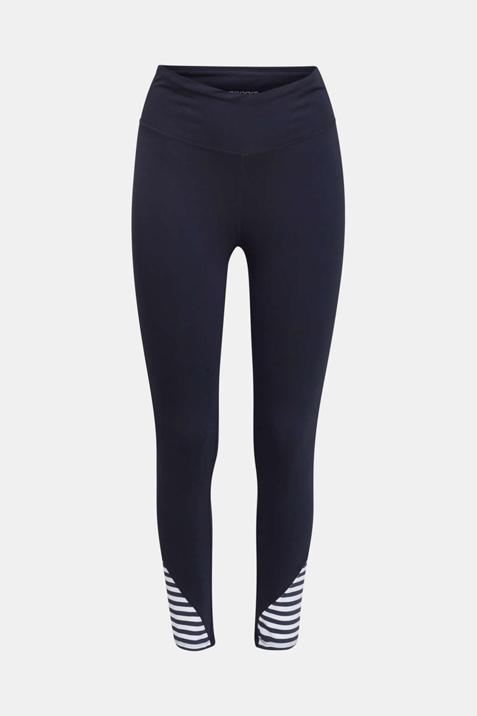 Leggings with stripes and organic cotton, NAVY 2, detail image number 6