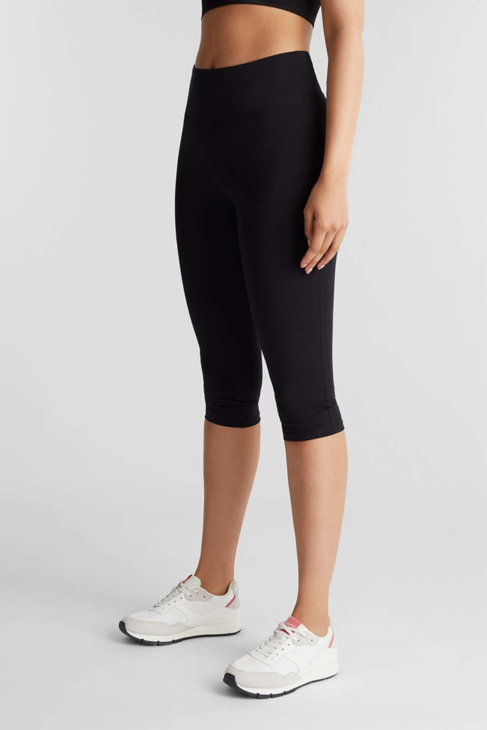 Esprit - Cropped leggings with organic cotton