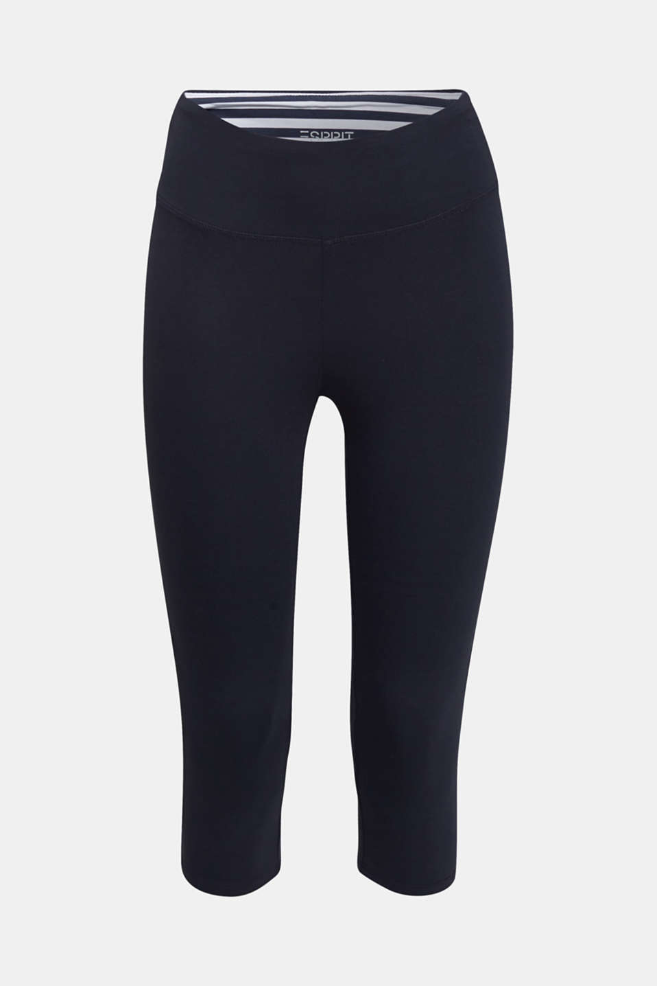 Cropped leggings with organic cotton, NAVY 2, detail image number 5
