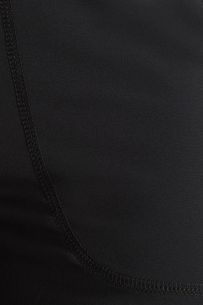 Web-Capri mit Saum-Turn-ups, E-DRY, BLACK, detail image number 3