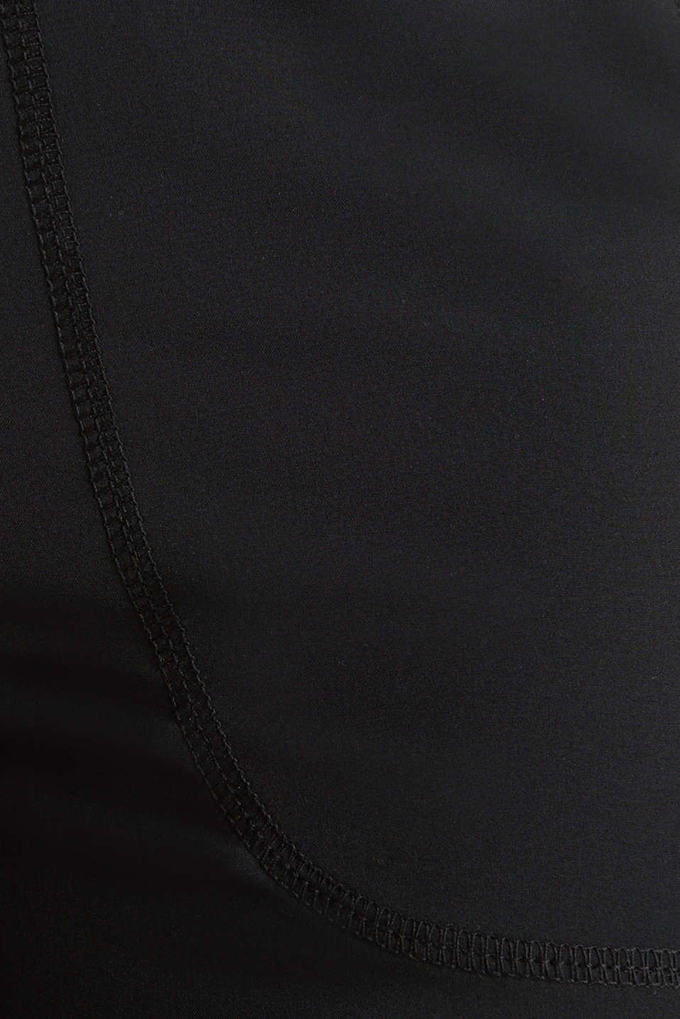Woven capris with turned-up hems, edry, BLACK, detail image number 3