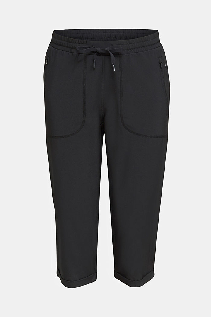 Woven capris with turned-up hems, edry