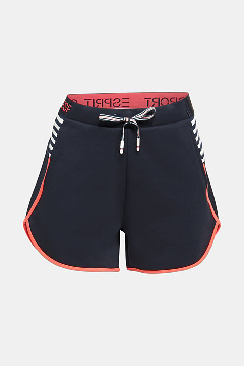 Sweatshirt fabric shorts with contrasts