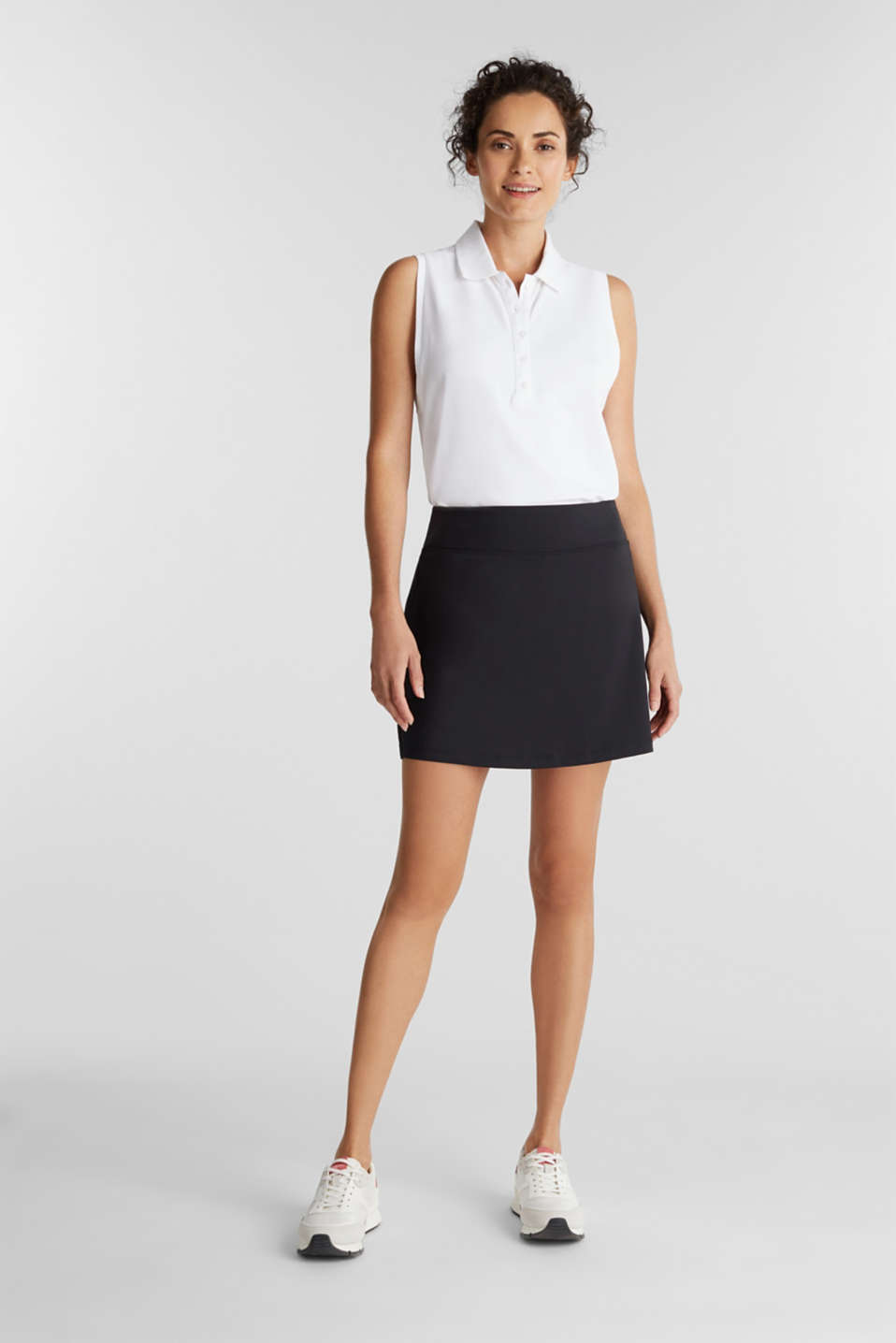 2-in-1: tennis skorts with an adjustable waistband and edry, BLACK, detail image number 1