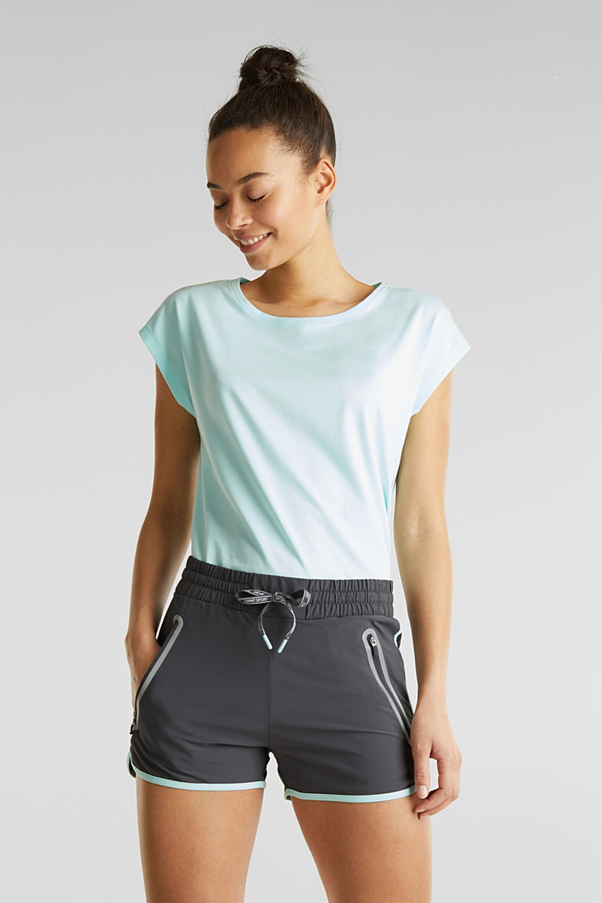 Shorts with shiny trims, E-DRY