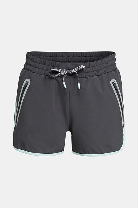 Shorts with shiny trims, E-DRY