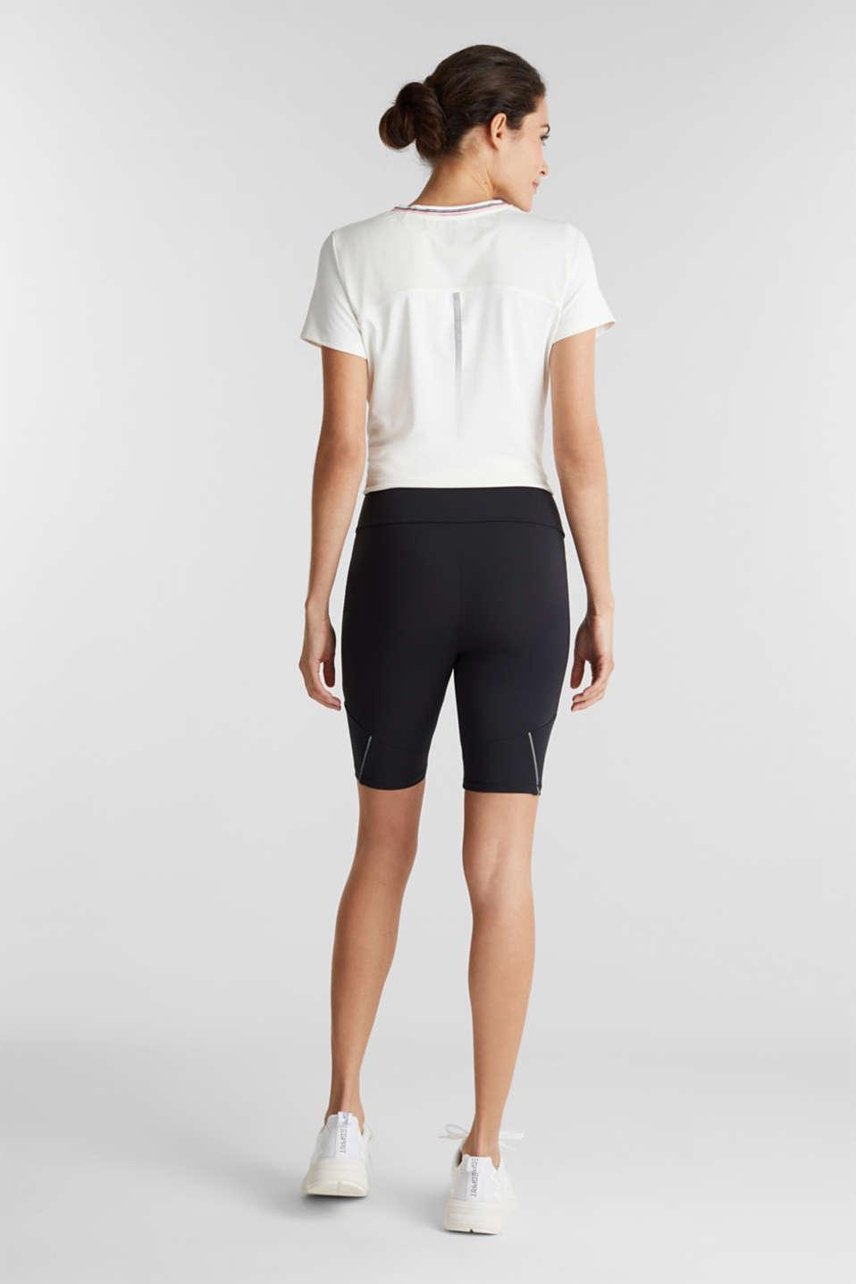 E-DRY leggings with mesh details, BLACK, detail image number 3