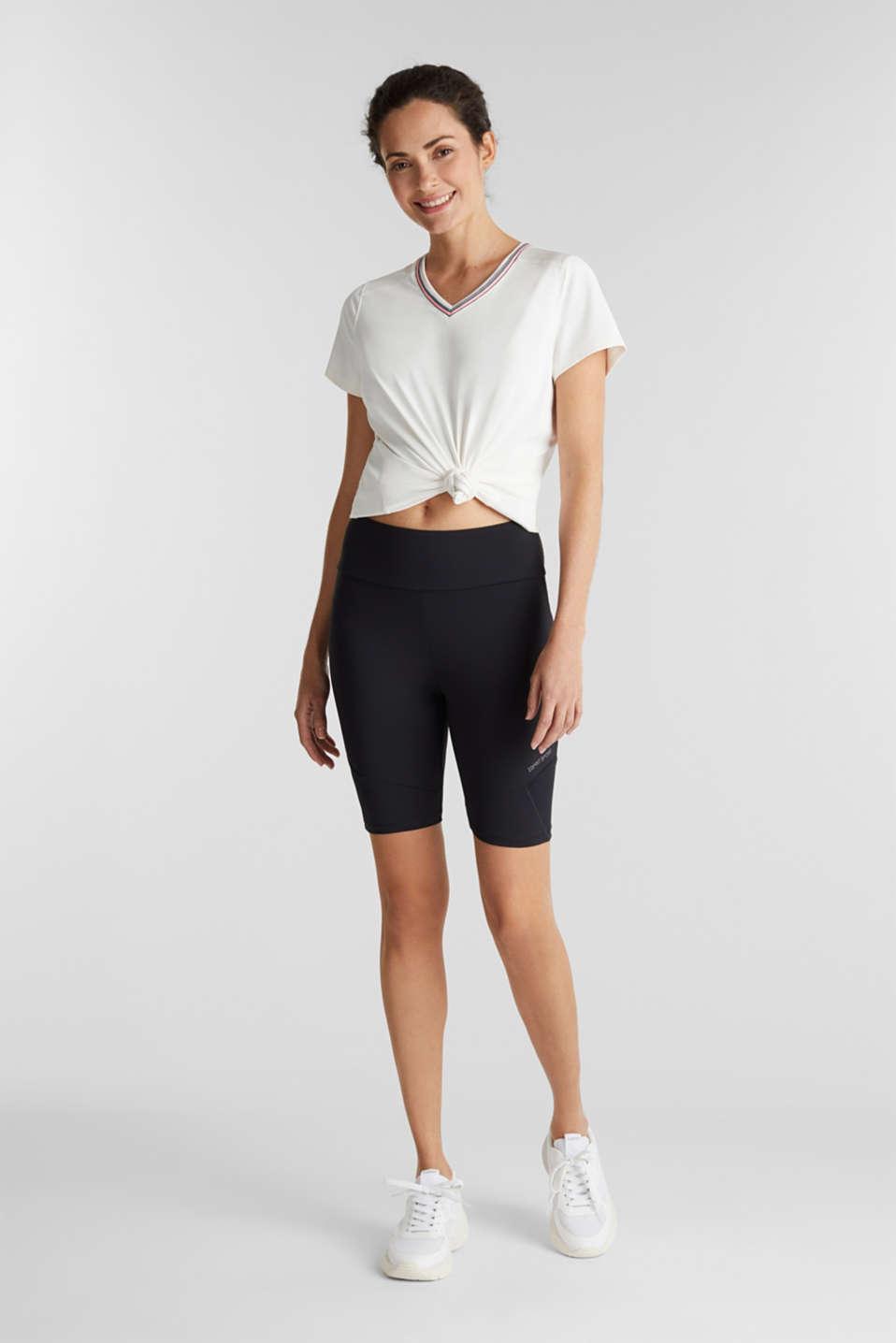 E-DRY leggings with mesh details, BLACK, detail image number 1