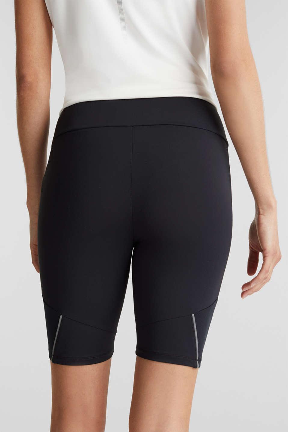 E-DRY leggings with mesh details, BLACK, detail image number 5