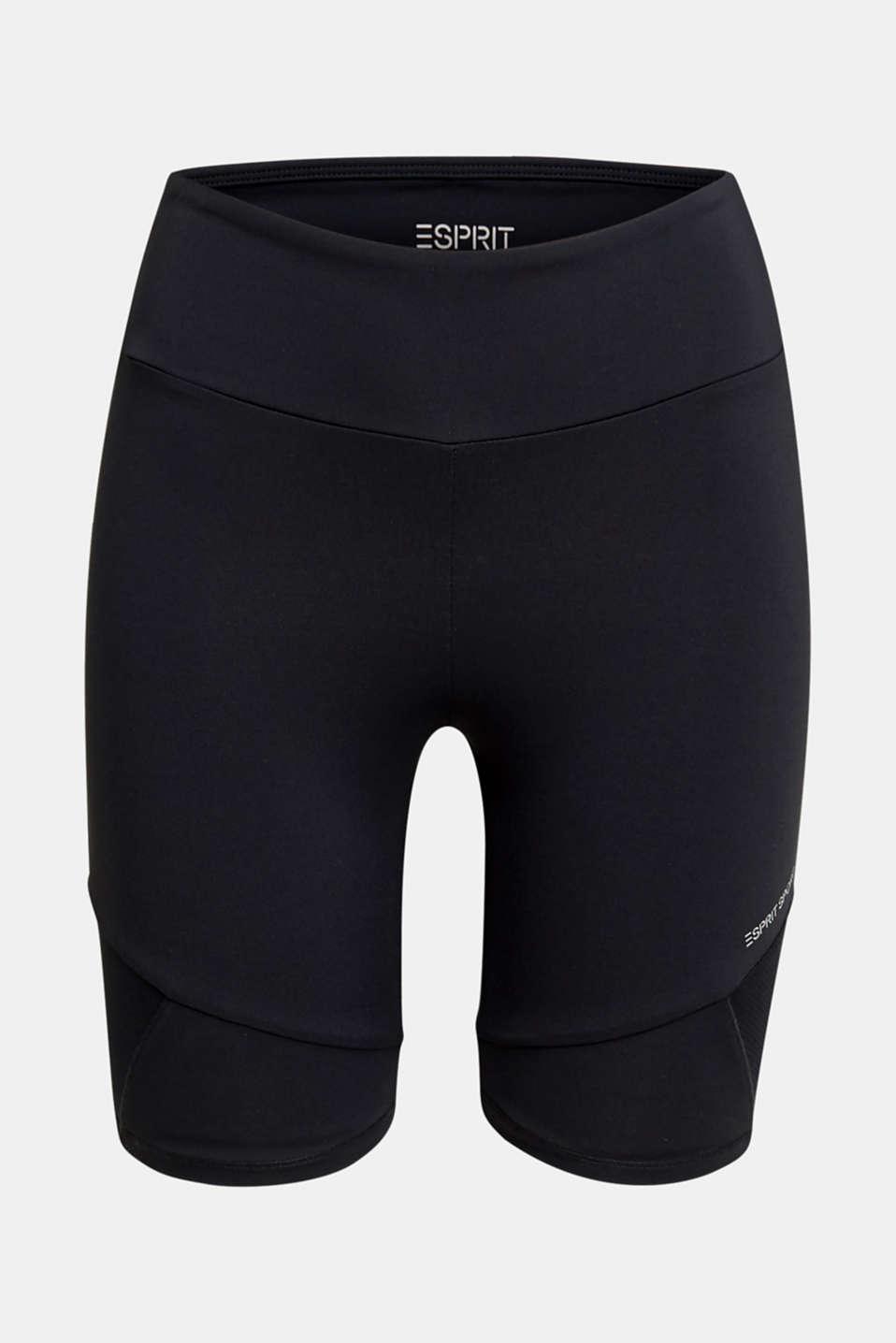 E-DRY leggings with mesh details, BLACK, detail image number 6