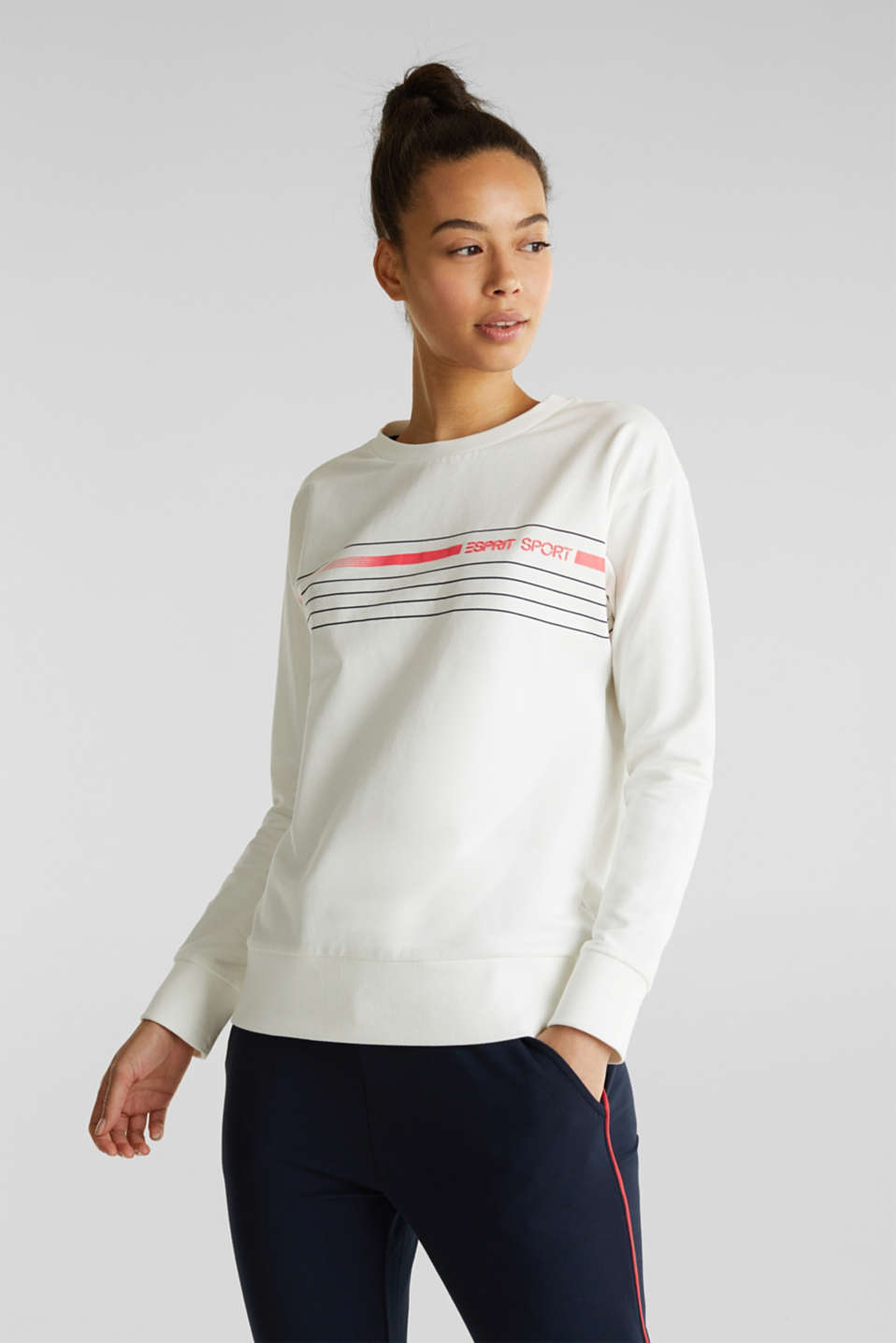 Esprit - Stretch sweatshirt with a print