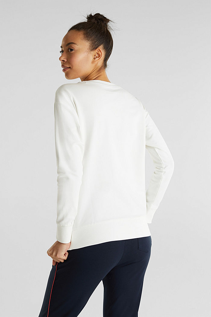Stretch sweatshirt with a print, OFF WHITE, detail image number 1