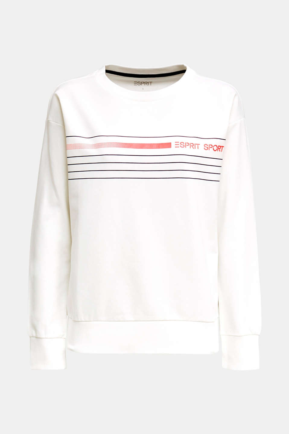 Stretch sweatshirt with a print, OFF WHITE, detail image number 4