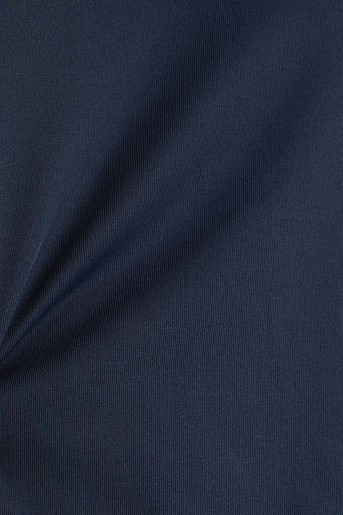 V-Neck-Shirt mit Lochmuster, E-DRY, NAVY, detail image number 2