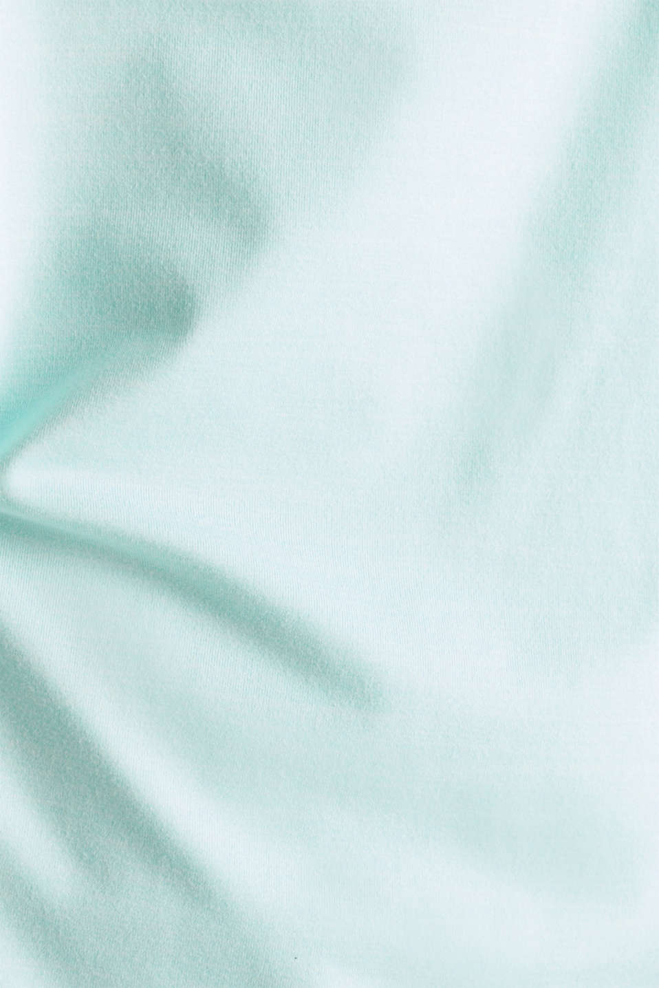Melange top with a logo print, E-DRY, TURQUOISE 2, detail image number 2