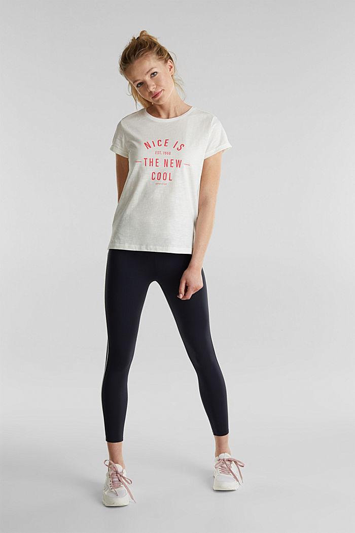 Camiseta con estampado, 100% algodón ecológico, OFF WHITE, detail image number 1