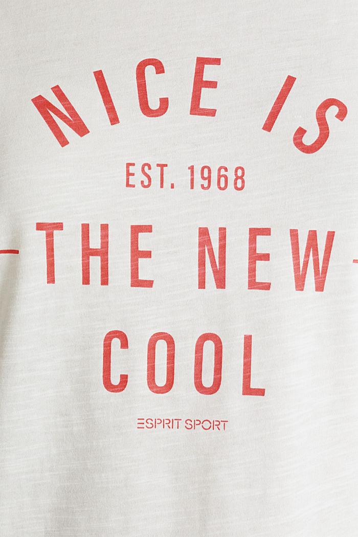 Camiseta con estampado, 100% algodón ecológico, OFF WHITE, detail image number 4