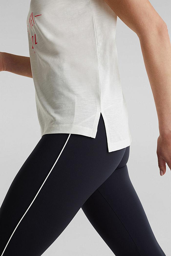 Camiseta con estampado, 100% algodón ecológico, OFF WHITE, detail image number 5