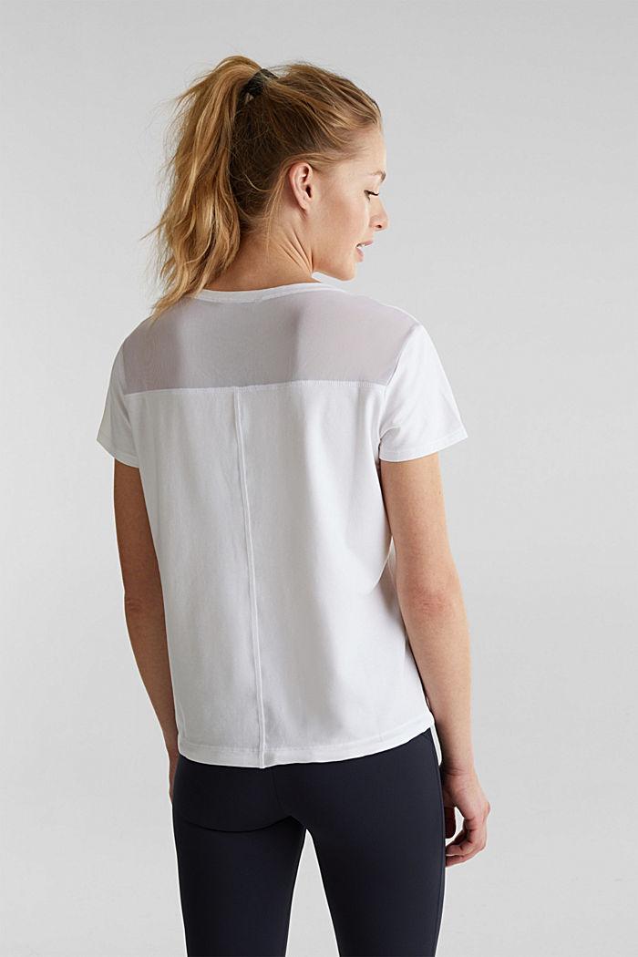 Verkkokangassomisteinen, nauhakujallinen paita, WHITE, detail image number 3