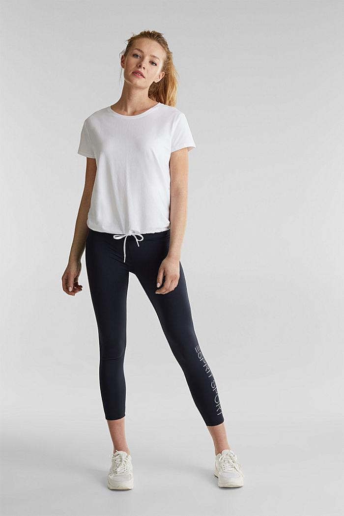 Verkkokangassomisteinen, nauhakujallinen paita, WHITE, detail image number 1