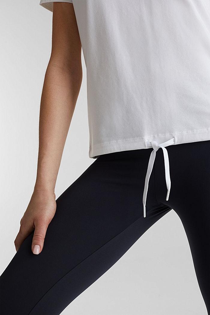 Verkkokangassomisteinen, nauhakujallinen paita, WHITE, detail image number 2