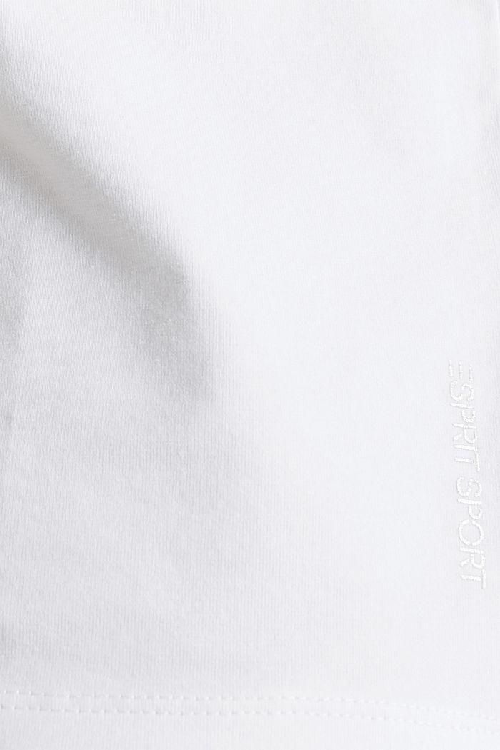Verkkokangassomisteinen, nauhakujallinen paita, WHITE, detail image number 4