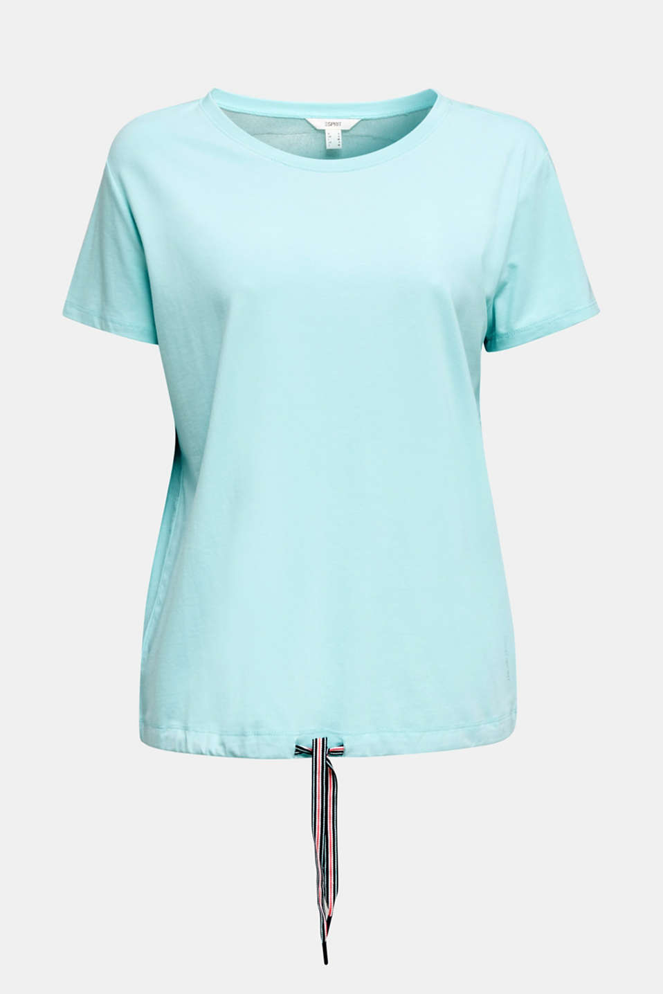 Drawstring top with mesh insert, TURQUOISE, detail image number 6