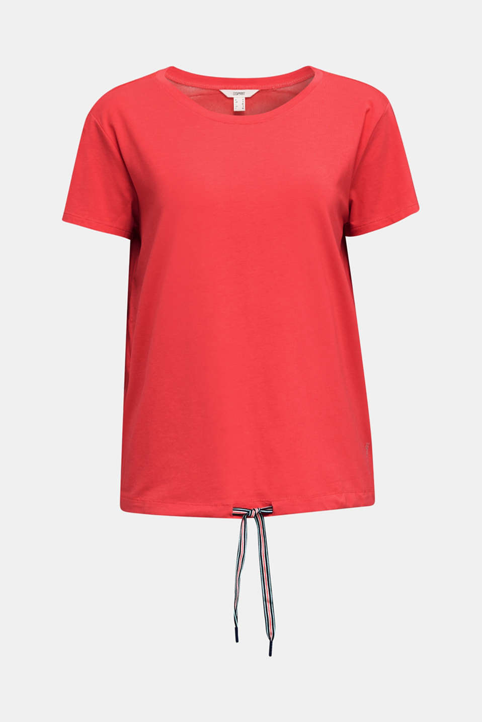 Drawstring top with mesh insert, CORAL, detail image number 7