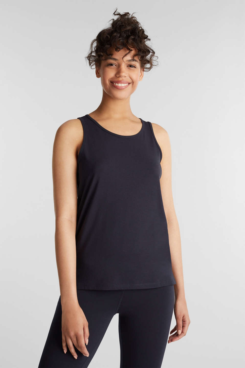 Esprit - Top with textured stripes