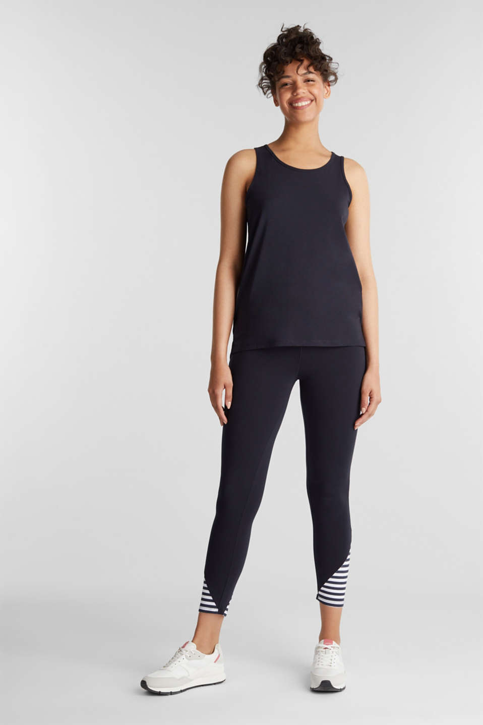 Top with textured stripes, NAVY 2, detail image number 1