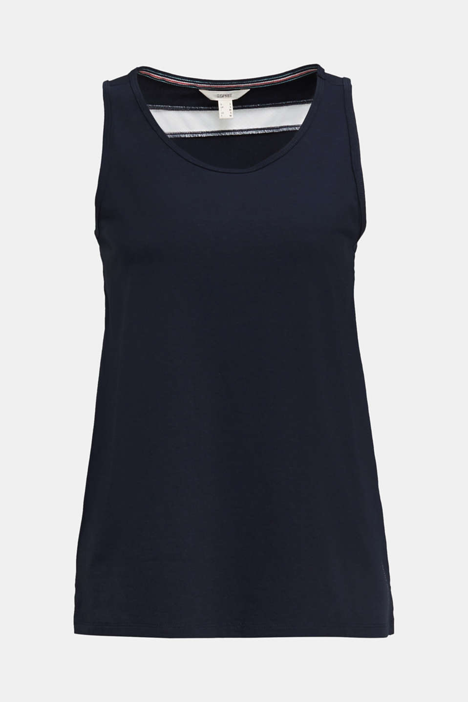 Top with textured stripes, NAVY 2, detail image number 5