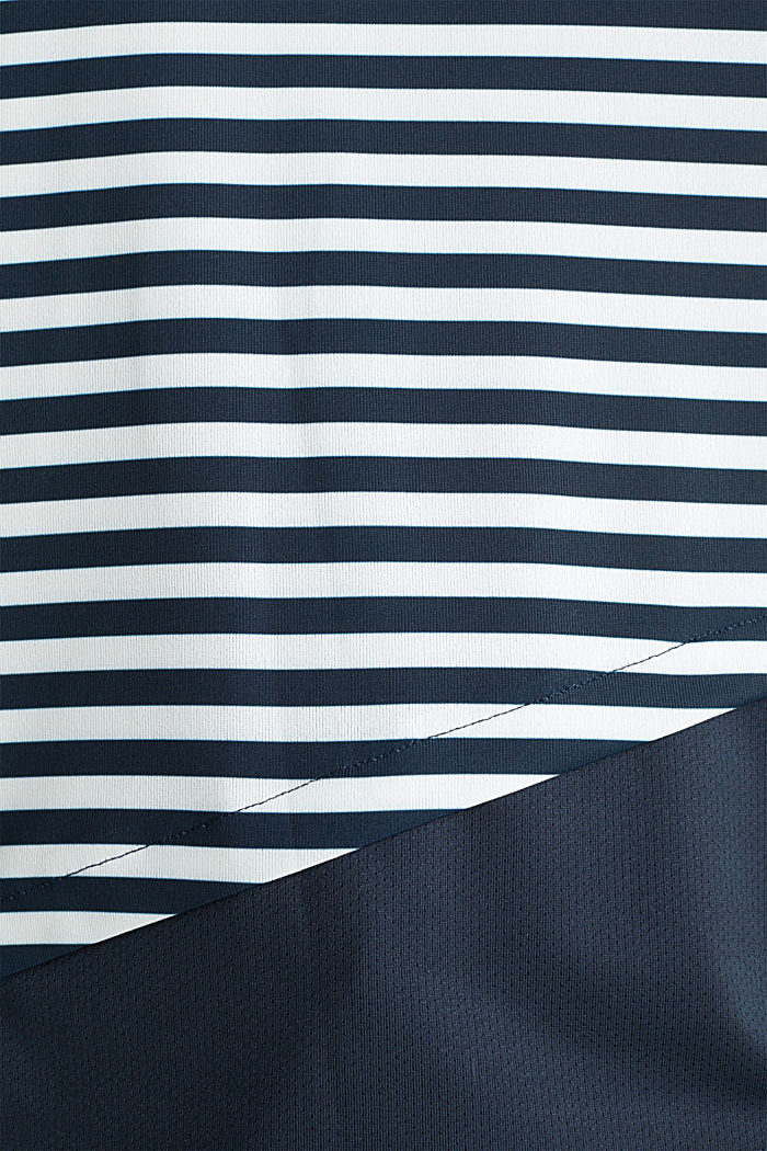 Jersey top with stripes, E-DRY, NAVY, detail image number 3