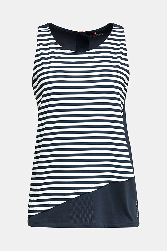 Jersey top with stripes, E-DRY, NAVY, detail image number 4