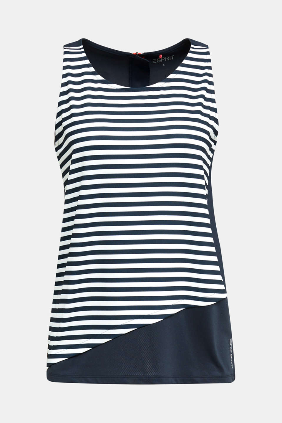 Jersey top with stripes, E-DRY, NAVY 4, detail image number 4